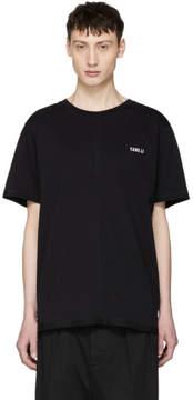 Yang Li SSENSE Exclusive Black Overlock Logo T-Shirt