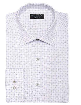 Alfani AlfaTech by Men's Classic/Regular Fit Performance Stretch Circle & Geometric Print Dress Shirt, Created For Macy's