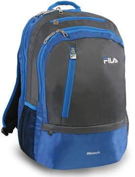Fila Gray & Blue Duel Tablet & Laptop Backpack