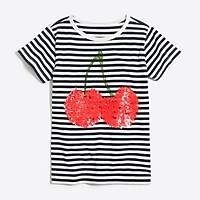 J.Crew Factory Girls' cherry keepsake T-shirt