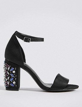 Marks and Spencer Jewel Heel Two Part Sandals