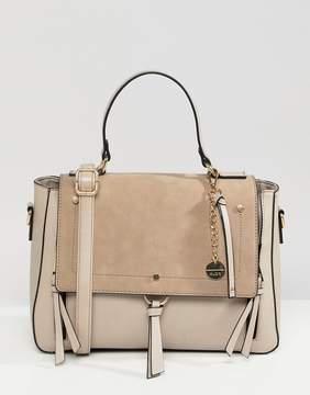 Aldo Gochnauer cream handheld tote bag with tassel and zip detail