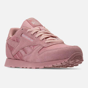 Reebok Girls' Grade School Classic Leather Satin Casual Shoes