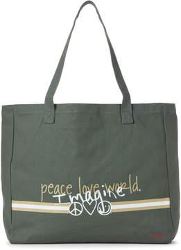 Peace Love World Kale Oversized Tote