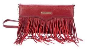 Rebecca Minkoff Fringe Leather Tech Crossbody Wallet - RED - STYLE