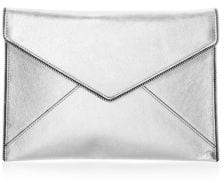 Rebecca Minkoff Leo Leather Clutch - GREY - STYLE