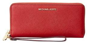 MICHAEL Michael Kors Jet Set Travel Leather Continental Wallet. - RED - STYLE