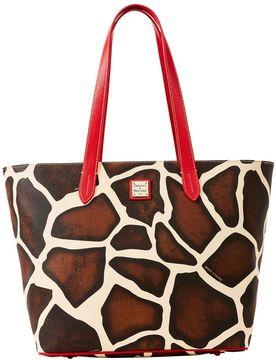 Dooney & Bourke Serengeti Large Zip Shopper - GIRAFFE BLACK - STYLE