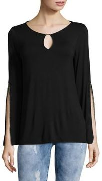 T Tahari Chloe Embellished Knit Top