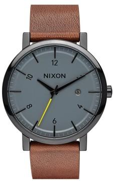 Nixon Men's 'Rollo' Leather Strap Watch, 42Mm