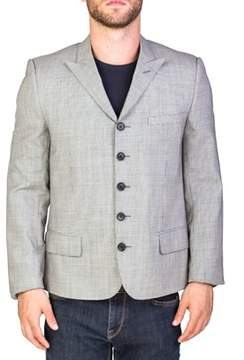 Christian Dior Men's Wool Five-button Sportscoat Houndstooth Jacket White Grey Black.