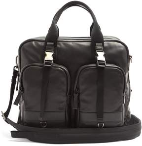 Prada Front-pocket medium leather holdall