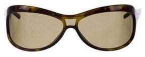 Bottega Veneta Polarized Shield Sunglasses
