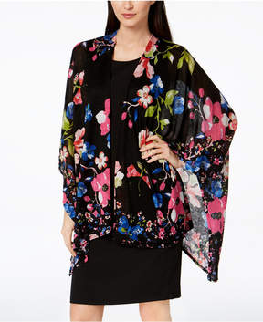 INC International Concepts I.n.c. Vibrant Floral Cape, Created for Macy's