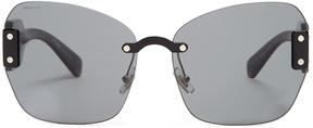 Miu Miu Butterfly-frame acetate sunglasses