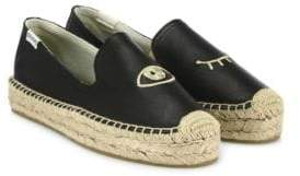 Soludos x Jason Polan Wink Leather Platform Espadrilles