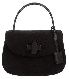 Gucci Velvet Top Handle Bag - BLACK - STYLE