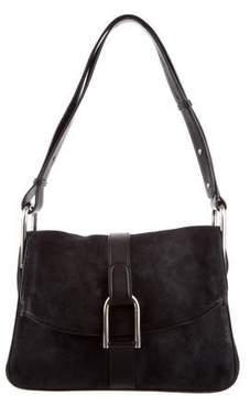 Delvaux Nubuck Crossbody Bag
