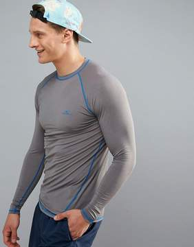 O'Neill Active Slim Fit Long Sleeve T-Shirt in Gray
