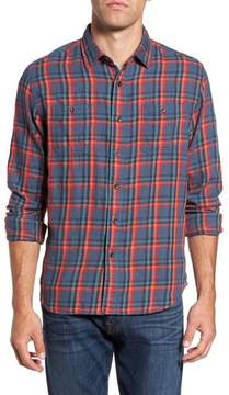 Grayers Trent Modern Fit Slubbed Windowpane Sport Shirt
