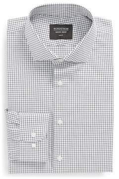 Nordstrom Grid Print Trim Fit Dress Shirt