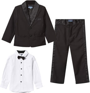 Andy & Evan Black 4 Piece Tuxedo Set