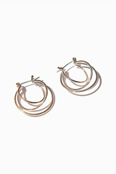 Dynamite Multi-Layered Hoop Earrings
