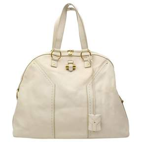 Saint Laurent Muse leather handbag - WHITE - STYLE