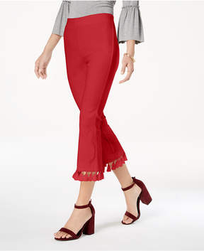 XOXO Juniors' Tassel-Trimmed Cropped Flare Pants