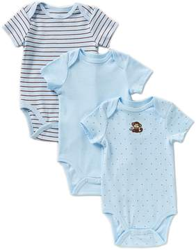 Little Me Baby Boys Newborn-9 Months Monkey Star 3-Pack Bodysuits