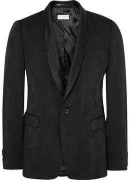 Dries Van Noten Black Slim-Fit Wool-Blend Jacquard Tuxedo Jacket