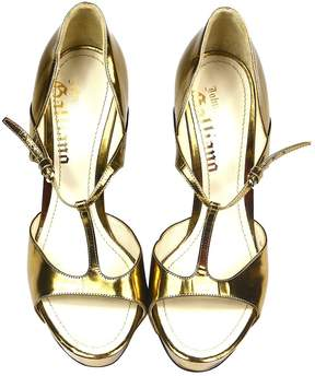 John Galliano Patent leather sandals