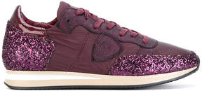 Philippe Model glitter lace-up sneakers
