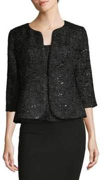 Alex Evenings Two-Piece Sequined Jacket and Top