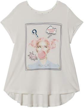 Mayoral White Bubblegum Girl Print Tee