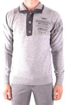 Aeronautica Militare Men's Grey Wool Sweater.