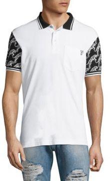 Versace Jeans K-Tiger Bianco Cotton Polo