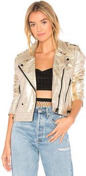 Blank NYC BLANKNYC X REVOLVE Metallic Moto Jacket