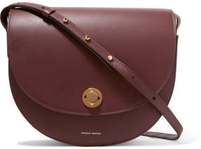 Mansur Gavriel Saddle Leather Shoulder Bag - Burgundy