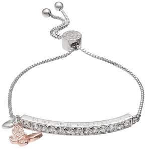 Brilliance+ Brilliance Two Tone You Are Beautiful Bolo Bracelet with Swarovski Crystals