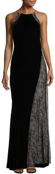 Badgley Mischka Women's Halter Neck Gown