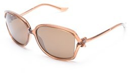 Moschino Women's Bow Detailed Oversized Sunglasses Light Brown.