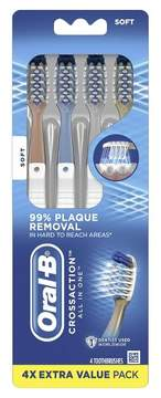 Oral-B Pro-Health All-in-One 40 Soft Bristle Manual Toothbrush - 4ct