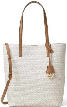 MICHAEL Michael Kors Hayley Logo North South Tote - VANILLA LOGO - MINI - STYLE