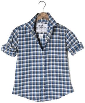 Frank And Eileen Womens Barry Italian Flannel Checker Shirt