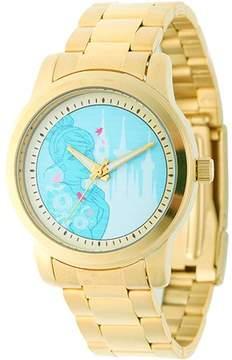 Disney Cinderella Women's Casual Alloy Watch, Gold Bracelet