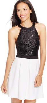 B. Darlin Juniors' Sequined Scuba Fit & Flare Dress