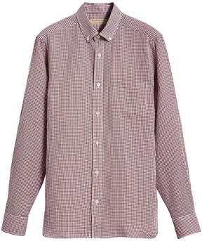 Burberry Button-down Collar Gingham Shirt