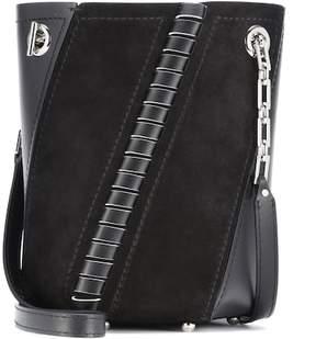 Proenza Schouler Mini Hex leather and suede bucket bag