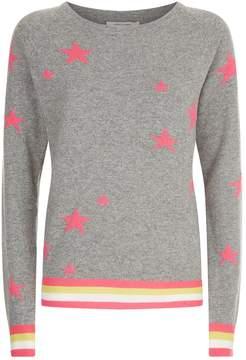 Chinti and Parker Stars Lurex Stripe Sweater